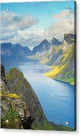 Acrylic Print featuring the photograph Fjord by Maciej Markiewicz