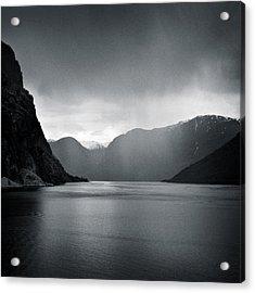 Fjord Rain Acrylic Print