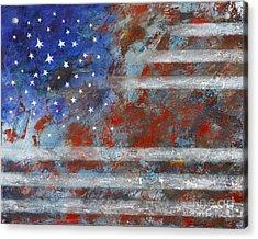 Flag 2012 Acrylic Print by Eva Hoffmann