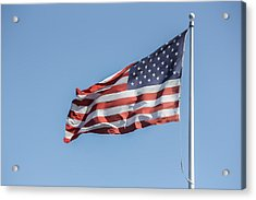 Flag And Blue Sky Acrylic Print