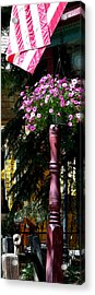 Flag And Flowers 6110 Pe Acrylic Print by Jerry Sodorff