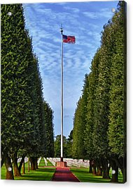 Flag At Normandie Acrylic Print