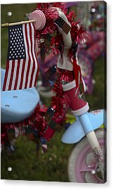 Acrylic Print featuring the photograph Flag Bike by Patrice Zinck