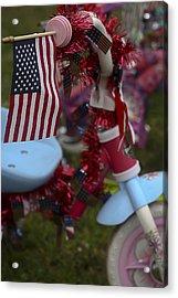 Flag Bike Acrylic Print by Patrice Zinck