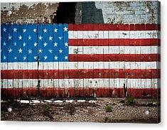 Flag Fence Acrylic Print
