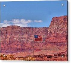 Flag In Arizona Acrylic Print by Dan Sproul