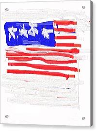 Flag Acrylic Print by Jay Manne-Crusoe