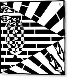 Flag Of Eritrea Maze Acrylic Print by Yonatan Frimer Maze Artist