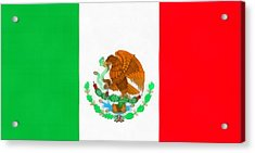 Flag Of Mexico Acrylic Print by Dan Sproul