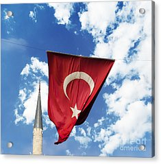 Flag Of Turkey Acrylic Print by Jelena Jovanovic