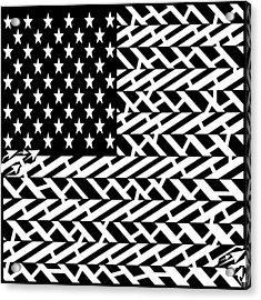 Flag Of Usa Maze Acrylic Print by Yonatan Frimer Maze Artist