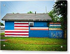Flag Wall Acrylic Print