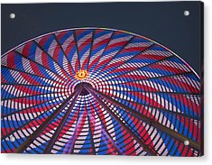 Acrylic Print featuring the photograph Flag Wheel by Darleen Stry