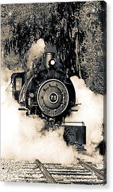 Flagg Coal Steam Engine Blow Out Acrylic Print by Michael White
