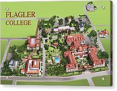 Flagler College Acrylic Print by Rhett and Sherry  Erb
