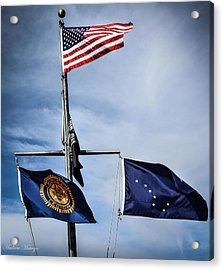 Flags Acrylic Print by Andrew Matwijec