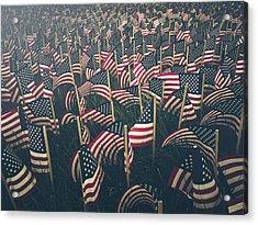 Flags Acrylic Print by Fran Polito