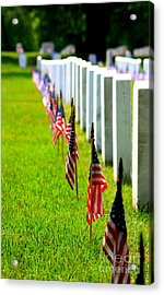 Flags In Acrylic Print by Patti Whitten