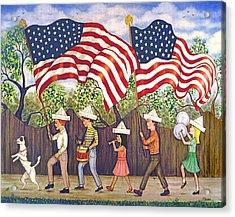 Flags Acrylic Print by Linda Mears