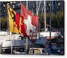 Acrylic Print featuring the photograph Flags by Muhie Kanawati
