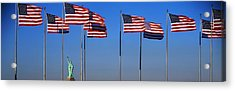 Flags New York Ny Acrylic Print by Panoramic Images