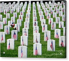 Acrylic Print featuring the photograph Flags Of Honor by Ed Weidman