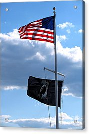 Flags Of The Brave Acrylic Print