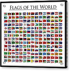 Flags Of The World Acrylic Print by Carsten Reisinger