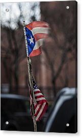 Flags Acrylic Print by Robert Ullmann