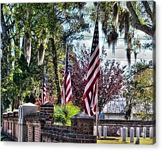 Acrylic Print featuring the photograph Flags That Stand by Victor Montgomery