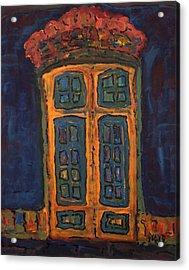 Flamboyant Door Acrylic Print by Oscar Penalber