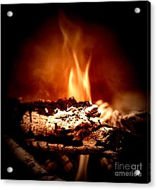 Acrylic Print featuring the photograph Flame by Denise Tomasura