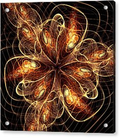 Flame Flower Acrylic Print by Anastasiya Malakhova