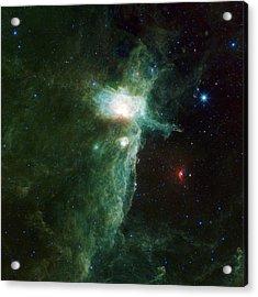 Flame Nebula Acrylic Print by Adam Romanowicz