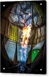 Flame On Acrylic Print by Bob Orsillo