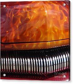 Flame Rod 1 Squared Acrylic Print