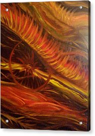 Flame Run Acrylic Print by Adriana Garces
