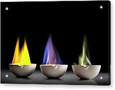 Flame Tests Acrylic Print