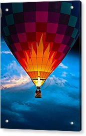 Flame With Flame Acrylic Print by Bob Orsillo