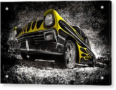 Flamed Chevrolet Bel Air Acrylic Print by motography aka Phil Clark