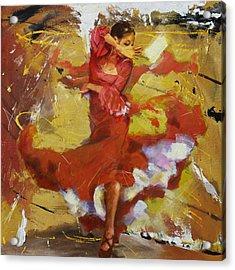 Flamenco 44 Acrylic Print by Maryam Mughal