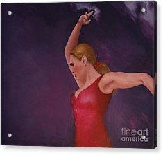 Flamenco 8 Acrylic Print by Jos Van de Venne