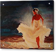Flamenco Allure Acrylic Print by Janet McDonald