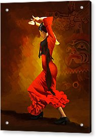 Flamenco Dancer 0013 Acrylic Print by Catf