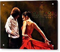 Flamenco Dancer 012 Acrylic Print