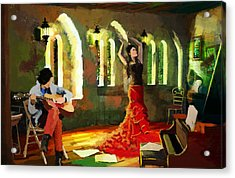 Flamenco Dancer 017 Acrylic Print by Catf