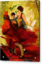 Flamenco Dancer 019 Acrylic Print by Catf