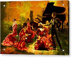Flamenco Dancer 020 Acrylic Print by Catf