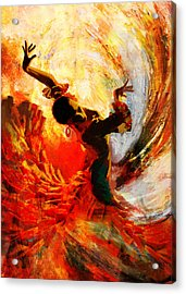 Flamenco Dancer 021 Acrylic Print by Mahnoor Shah