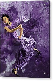 Flamenco Dancer 023 Acrylic Print by Catf
